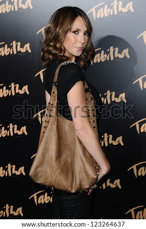 Alex Jones arriving for the Tabitha Collection Launch, at 5 Canvendish Square, London. 05/09/2012 Picture by: Steve Vas