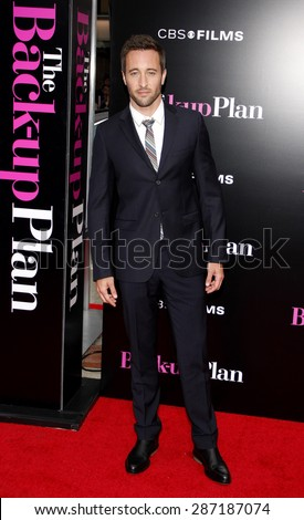 Alex O'Loughlin at the Los Angeles premiere of 'The Back-Up Plan' held at the Regency Village Theatre in Westwood on April 21, 2010.  - stock photo