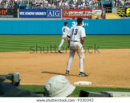Alex Rodriguez and Derek Jeter - stock photo