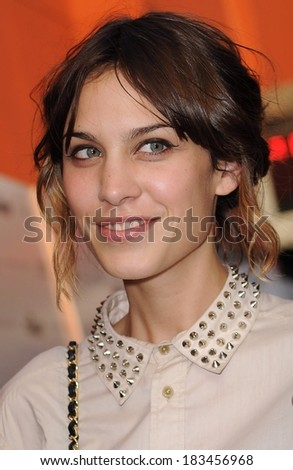 Alexa Chung at INGLOURIOUS BASTERDS Cinema Society Screening, School of Visual Arts, SVA, Theater, New York, NY August 17, 2009  - stock photo