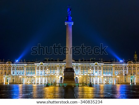 Alexander Column in Saint-Petersburg