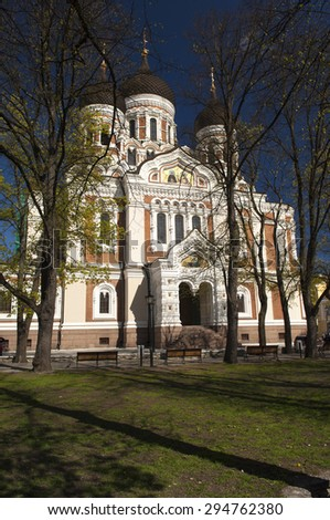 Alexander Nevski Cathedral, Tallinn, Estonia - stock photo