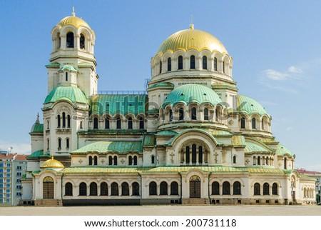 Alexander Nevsky Cathedral, Sofia - stock photo