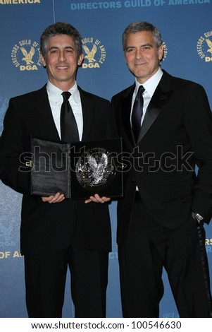 Alexander Payne, George Clooney at the 64th Annual Directors Guild Of America Awards Pressroom, Hollywood & Highland, Hollywood, CA 01-28-12