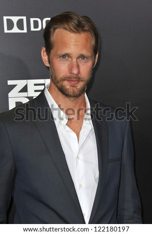 "Alexander Skarsgard at the premiere of ""Zero Dark Thirty"" at the Dolby Theatre, Hollywood. December 10, 2012  Los Angeles, CA Picture: Paul Smith"