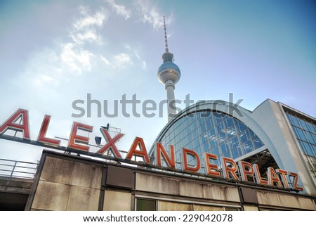 Alexanderplatz subway station in Berlin, Germany