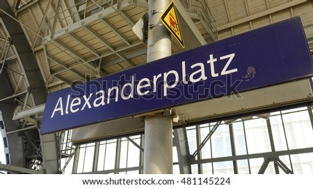 Alexanderplatz train station in Berlin city center - BERLIN / GERMANY - AUGUST 31, 2016