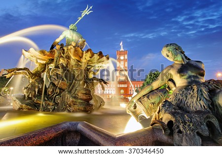 Alexanderplatz With Rotes Rathaus, Berlin - stock photo