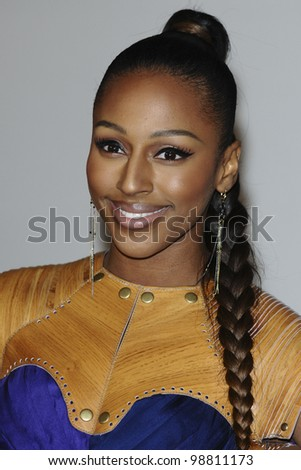 Alexandra Burke arriving for the Brit Awards 2012 at the O2 arena, Greenwich, London. 21/02/2012 Picture by: Steve Vas / Featureflash