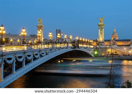 Alexandre 3 Bridge in paris, france - stock photo