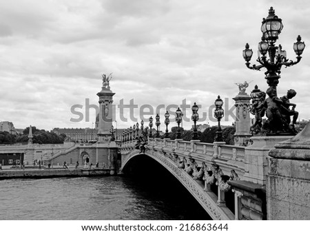 Alexandre III bridge in Paris, France