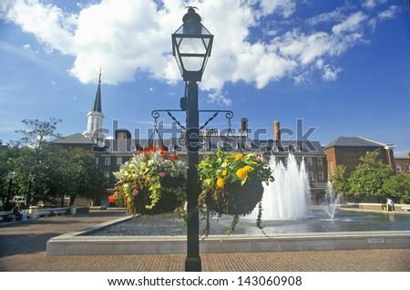 Alexandria City Hall and Market Square in Old Town Alexandria, Alexandria, Washington, DC - stock photo