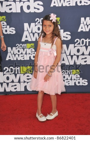 Alexys Nycole-Sanchez at the 2011 MTV Movie Awards at the Gibson Amphitheatre, Universal Studios, Hollywood. June 5, 2011  Los Angeles, CA Picture: Paul Smith / Featureflash
