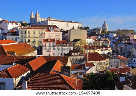 Alfama, Lisbon, Portugal - stock photo