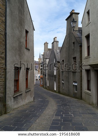 Alfred Street, Stromness, Orkney Mainland, Scotland - stock photo