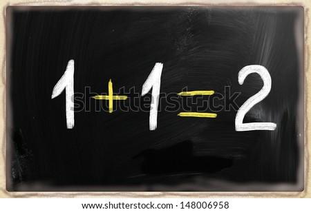 Algebra blackboard - stock photo