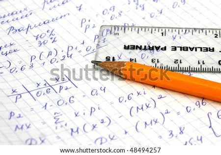 Algebra Equations - stock photo