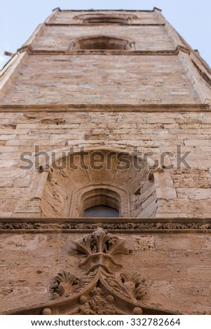 Alghero  old  symbol bell tower - stock photo