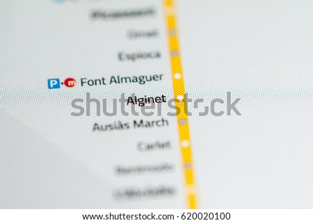 Alginet Station Valencia Metro Map Stock Photo 620020100 Shutterstock