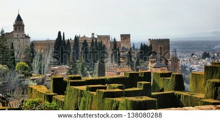 Alhambra Palace & Gardens in Grenade, Spain