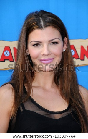 Ali Landry at the Los Angeles Premiere of 'Handy Manny Motorcycle Adventure'. Arclight Hollywood, Hollywood, CA. 09-26-09 - stock photo