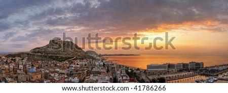 Alicante panorama - stock photo