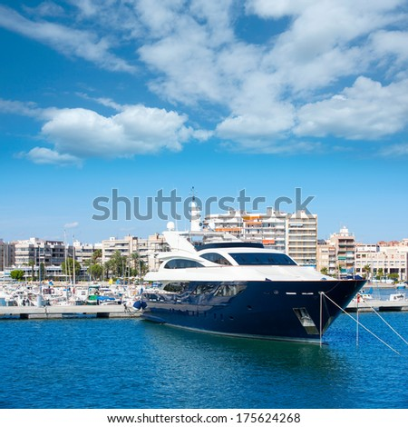 Alicante Santa Pola port marina from valencian Community at spain