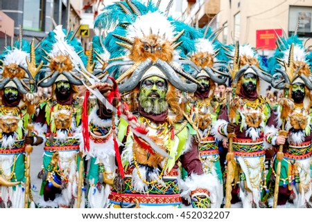Alicante,Spain - June 5: 2016 Colorful costumes of the annual Moors and Christians festival