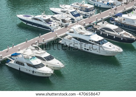 Alicante, Spain - SEPTEMBER 2015: Yachts and boats in Marina