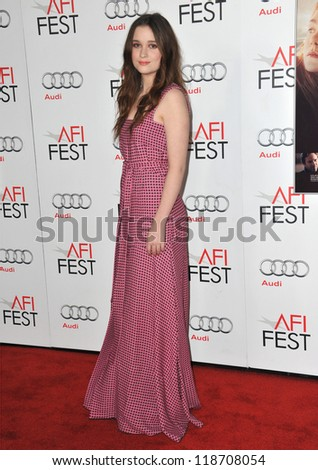"Alice Englert at the AFI Fest 2012 premiere of her movie ""Ginger and Rosa"" at Grauman's Chinese Theatre, Hollywood. November 7, 2012  Los Angeles, CA Picture: Paul Smith"