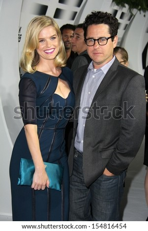 "Alice Eve and J.J. Abrams at the ""Star Trek Into Darkness"" Blu-Ray and DVD Release Party, California Science Center, Los Angeles, CA 09-10-13 - stock photo"