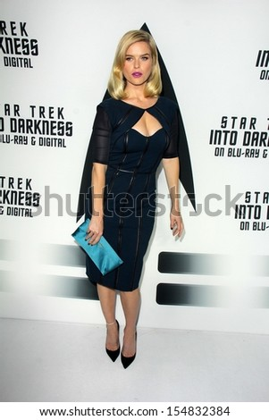 "Alice Eve at the ""Star Trek Into Darkness"" Blu-Ray and DVD Release Party, California Science Center, Los Angeles, CA 09-10-13 - stock photo"