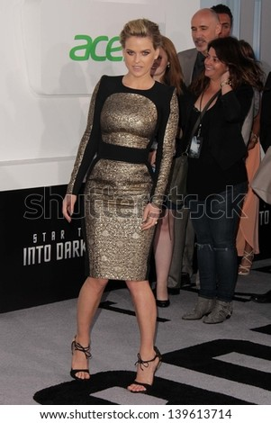 "Alice Eve at the ""Star Trek Into Darkness"" Los Angeles Premiere, Dolby Theater, Hollywood, CA 05-14-13"
