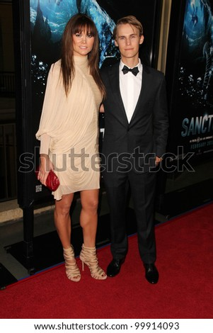 "Alice Parkinson and Rhys Wakefield at the World Premiere of ""Sanctum,"" Mann's Chinese 6, Hollywood, CA. 01-31-11"