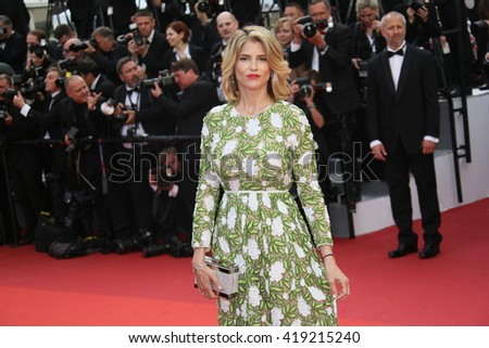 Alice Taglioni attends the 'Cafe Society' premiere and the Opening Night Gala during the 69th Cannes Film Festival at the Palais des Festivals on May 11, 2016 in Cannes, France. - stock photo