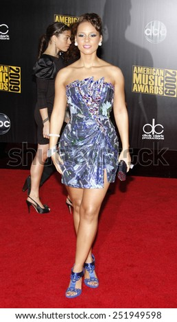 Alicia Keys at the 2009 American Music Awards held at the Nokia Theater in Los Angeles, California, United States on November 22, 2009.  - stock photo