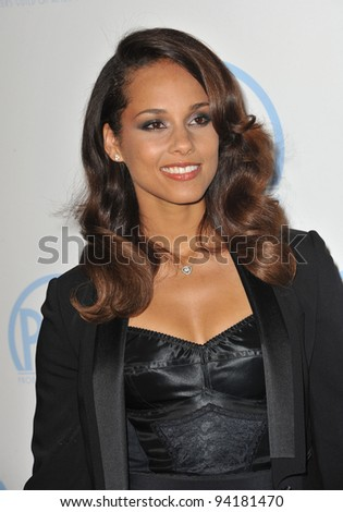 Alicia Keys at the 23rd Annual Producers Guild Awards at the Beverly Hilton Hotel. January 21, 2012  Los Angeles, CA Picture: Paul Smith / Featureflash