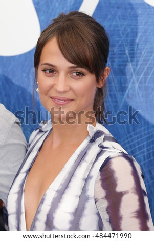 Alicia Vikander attends a photocall for 'The Light Between Oceans' during the 73rd Venice Film Festival at on September 1, 2016 in Venice, Italy.