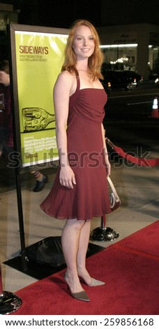 """Alicia Witt at the """"Sideways"""" Los Angeles Premiere held at the Academy of Motion Pictures Arts and Sciences in Beverly Hills, California United States on October 12 2004. - stock photo"""