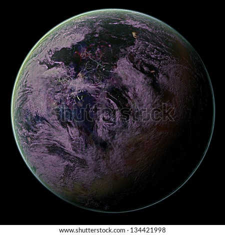 Alien Demon World - stock photo