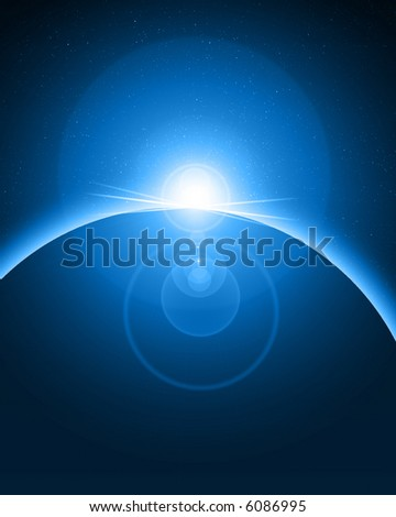 Alien eclipse - stock photo