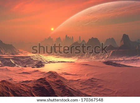 Alien Planet - stock photo