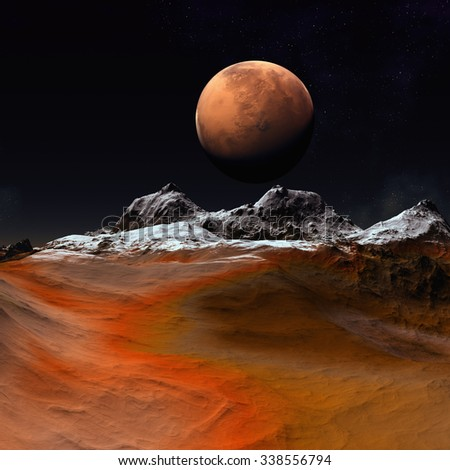 Alien Planet - Fantasy Landscape - stock photo