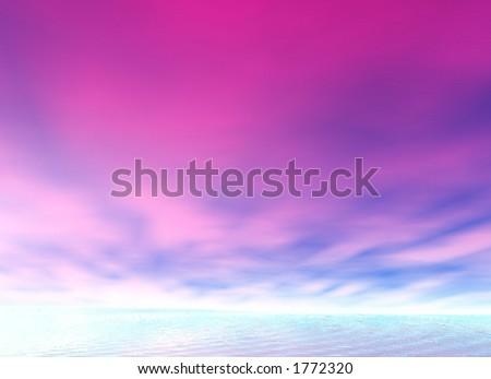 alien sky - stock photo