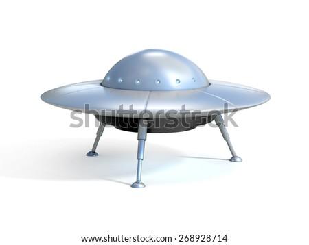 Alien spaceship 3d illustration - stock photo