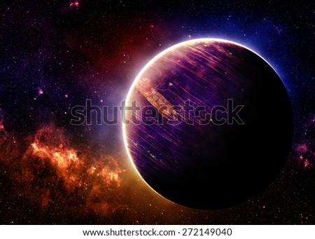 Alien World - Elements of this Image Furnished by NASA - stock photo