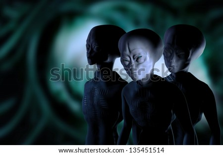 aliens - stock photo