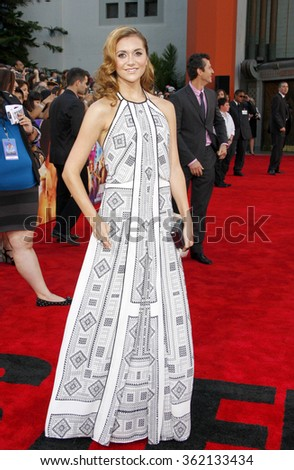 """Alison Stoner at the Los Angeles premiere of """"Step Up Revolution"""" held at the Grauman's Chinese Theatre in Los Angeles, California, United States on July 17, 2012.  - stock photo"""