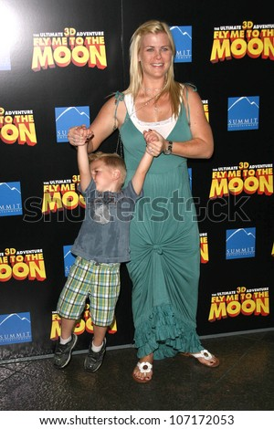 "Alison Sweeney and son Benjamin  at the Los Angeles Premiere of ""Fly Me To The Moon"". DGA, Hollywood, CA. 08-03-08"