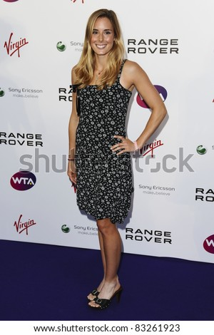 Alize Cornet arriving for the Pre Wimbledon Party, Kensington Roof Gardens, London. 16/07/2011  Picture by: Steve Vas / Featureflash